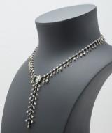 Unika diamantcollier med mix af slibninger og nuancer, ca. 14,01 ct