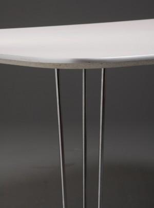 Lauritz.com   furniture   bord med spændben & bordplade af hvid ...