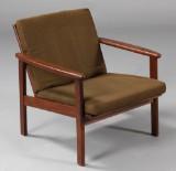 Dansk møbelproducent. Lænestol, teaktræ, 1960'erne