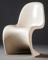 Verner Panton, Panton Chair in weiß für Vitra / Herman Miller / Fehlbaum Production