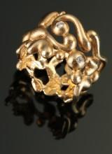 Ole Lynggaard. Troll ring, 14 kt. gold