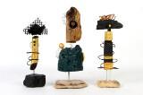 Tut Hagbart, cd. Skulpturer af genbrugsmateriale/ drivtømmet (3)
