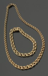 Bismark. halskæde i forløb og armbånd, 14 kt guld (2)