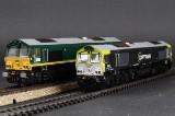 Heljan. Par lokomotiver, Märklin kompatible, 'Class 66' (2)