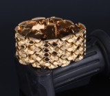 Gianetto Cibien, Italy. Wide 18 kt. gold bracelet, c. 1950's-1960's