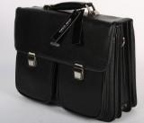 Apples. Skulder/rejsetaske i sort læder.