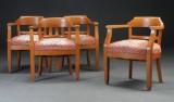Fire armstole af lakeret eg, 1900-tallet første del (4)