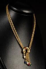 Necklace, 750 gold, cornucopia