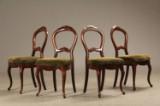 4 stole i mahogni, 1800-tallets anden halvdel, nyrokoko