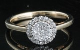 Diamond ring, gold approx. 0.36ct