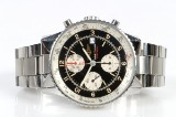 Breitling 'Navitimer Football'. Men's chronograph, steel with black dial. Limited edition, 148/500