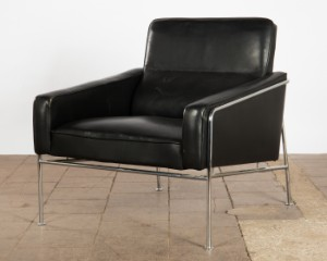 Arne Jacobsen Sessel Lounge Chair Serie 3300 Leder Lauritz Com