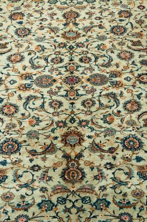 orientalische kashan teppich persien mintgr n ca 435 x 315 cm de hamburg. Black Bedroom Furniture Sets. Home Design Ideas