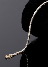 Brillant Tennisarmbånd, 14 kt guld, 1.01 ct