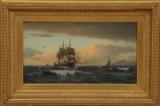 Christian Eckardt. Marinemotiv, olie på lærred