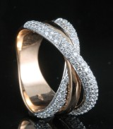 18kt diamond ring approx. 0.84ct