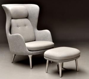 jamie hayon for fritz hansen 39 ro 39 l nestol med skammel. Black Bedroom Furniture Sets. Home Design Ideas