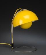 Verner Panton, Flowerpot bordlampe, gul. VP4