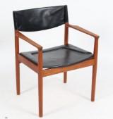 Erik Wørts stol af teaktræ, model 'Erika'