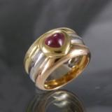 Chopard, ring af guld med rubin