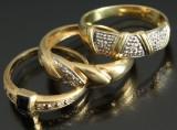 Tre ringe, 14 kt guld (3)