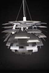Poul Henningsen. Pendant lamp, PH Artichoke, brushed steel, Ø 84 cm