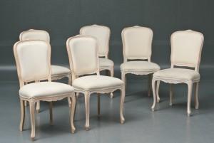 hvide stole Sæt på seks hvide stole (6) | Lauritz.com hvide stole