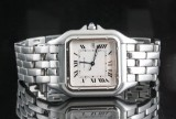 Cartier Panthere steel wristwatch