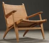 Hans. J. Wegner. Oak chair, model CH-27