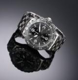 Sinn 'Duochronograph'. Men's watch, steel with grey dial, 2000s
