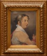 Jens Juel zugeschrieben, Portrait von Wilhelmine Lorent geb. Palmié, Pastell
