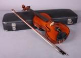 Violin i kasse med certifikat