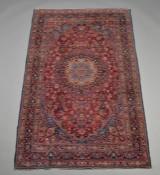 Persisk Mashad tæppe, 202x129 cm.