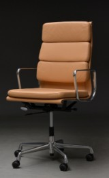 Charles Eames. Office chair with armrests, model EA-219, 'Full Leather'