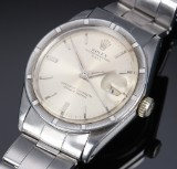 Rolex 'Date'. Vintage men's watch in steel with silver-coloured dial, c. 1962