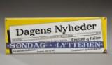 Emaljeskilt, reklameskilt for Dagens Nyheder