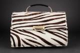 Bon Gôut. Vintage dametaske. Zebra- og sort læder
