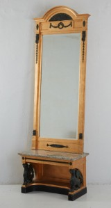 Spegel med konsolbord empirestil