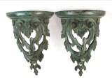 Paar Wandkonsolen mit Akanthusblätter aus Bronze