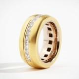 Ring 18 k guld diamanter