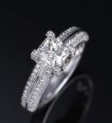 Ruben Svart. Modern solitaire diamond ring, 14 kt. white gold, total approx. 1.72 ct