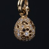 Ole Lynggaard. 'Sweet Drop' lace charm, 18 kt. gold with 0.58 ct of diamonds