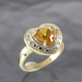 Ring in Gold mit Citrin