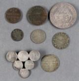 Rodekasse mønter og sedler