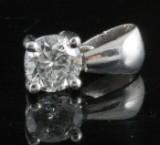 Pendant in 14k set with brilliant cut diamond 0.40 ct