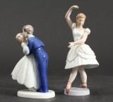 Bing & Grøndahl, Columbine samt Det første kys, porcelæn. (2)