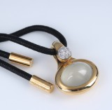 Ole Lynggaard. 'Emeli' pendant, 18 kt. red gold with moonstone and diamonds