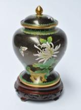 Kinesisk cloisonné lågkrukke, 1900-tallet