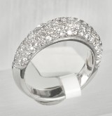 Ring in white gold 18 k with daimonds, 1.68 ct