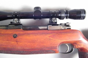 Riffel, Mauser 98 i kaliber 6,5x06 med kikkertsigte og ekstra skæfte.   Lauritz.com